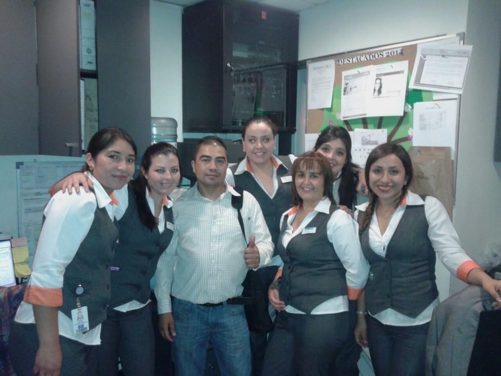 Colaboradoras Curicó y Patricio Morales (Director / Presidente Sindicato).